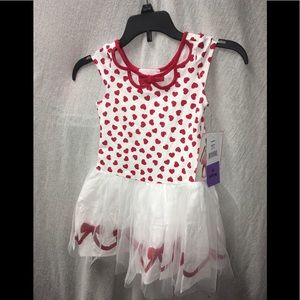 Biscotti Sleeveless Hearts Tulle Party Dress